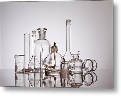 Scientific Glassware Metal Print by Tom Mc Nemar