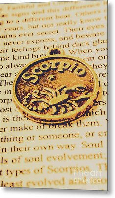 Scorpio Star Sign Token Metal Print by Jorgo Photography - Wall Art Gallery