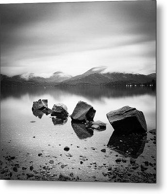 Scotland Lomond Rocks Metal Print