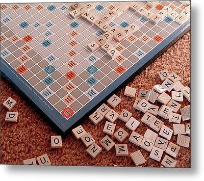 Scrabble Board Metal Print