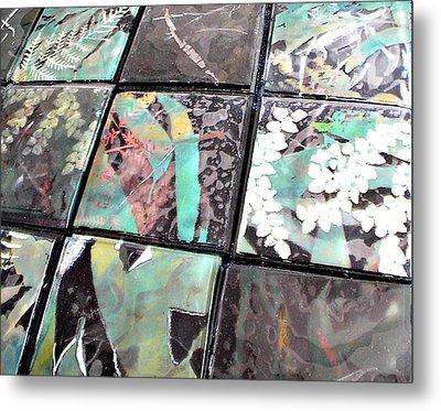 Screen Printed Glass Tiles Metal Print by Sarah King