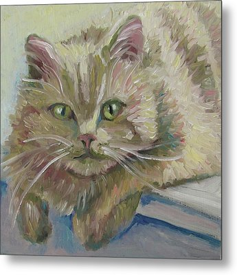 Metal Print featuring the painting Scruffy by Susan  Spohn