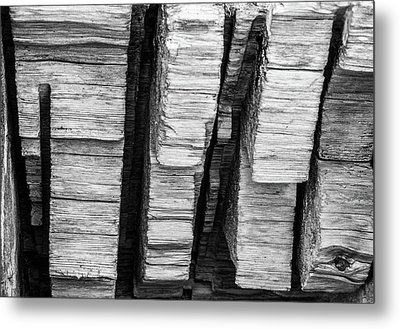Sculpted Log Metal Print