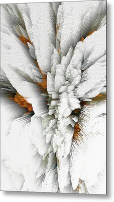 Metal Print featuring the digital art Sculptural Series Digital Painting 05.072311 by Kris Haas