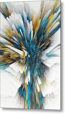Metal Print featuring the painting Sculptural Series Digital Painting 08.072311ex490l by Kris Haas