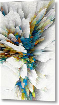 Metal Print featuring the digital art Sculptural Series Digital Painting 08.072311wscvssex490l by Kris Haas