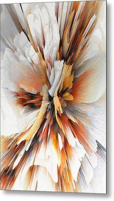 Metal Print featuring the digital art Sculptural Series Digital Painting 22.120210eext290lsqx2 by Kris Haas