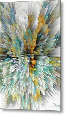 Metal Print featuring the digital art Sculptural Series Digital Painting 23.102011windextsc590l by Kris Haas