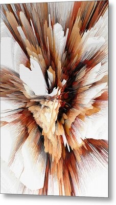 Metal Print featuring the digital art Sculptural Series Digital Painting 23.120210ext5100l by Kris Haas