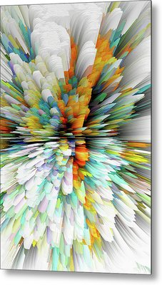 Metal Print featuring the digital art Sculptural Series Painting23.102011windblastsccvsext4100l by Kris Haas