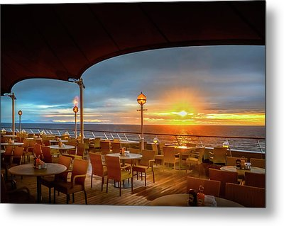 Metal Print featuring the photograph Sea Cruise Sunrise by John Poon