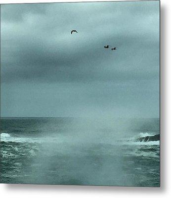 Sea Spray Metal Print by Christine Lathrop