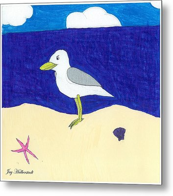 Seagull Metal Print by Jayson Halberstadt