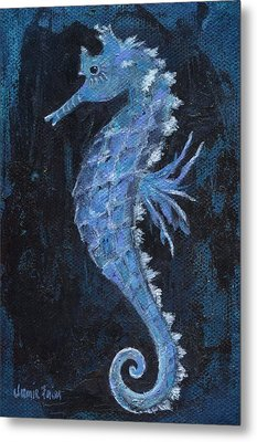 Metal Print featuring the painting Seahorse by Jamie Frier