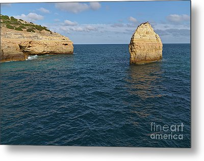 Seascape In Carvalho Beach. Algarve Metal Print