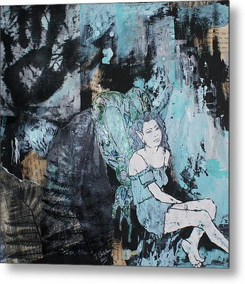 Seated Fairy With Hand 2 Metal Print by Joanne Claxton