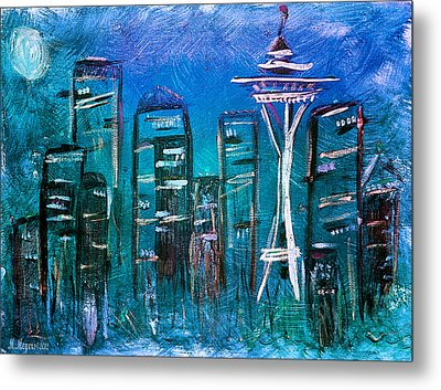 Seattle Skyline 2 Metal Print by Melisa Meyers