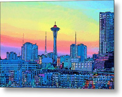 Seattle Space Needle Metal Print by RJ Aguilar
