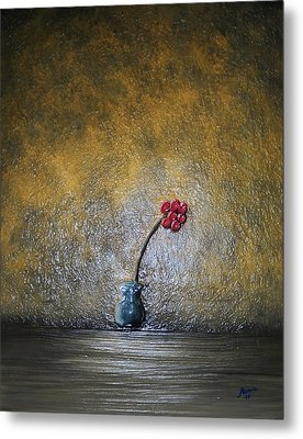 Metal Print featuring the painting Seclude  by Edwin Alverio