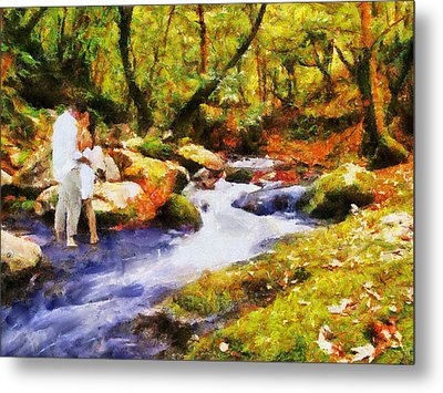 Secluded Stream Metal Print