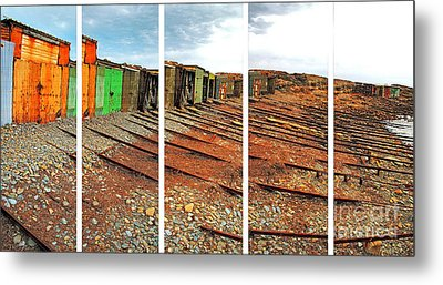 Metal Print featuring the photograph Second Valley Boat Sheds by Stephen Mitchell