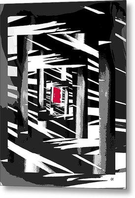 Secret Red Door Metal Print by Gerlinde Keating - Galleria GK Keating Associates Inc