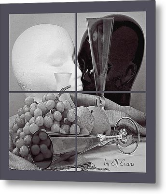 Metal Print featuring the photograph Sections by Elf Evans