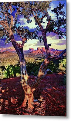 Sedona # 48 - Courthouse And Cathedral Rocks Metal Print
