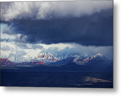 Sedona Area Third Winter Storm Metal Print by Ron Chilston