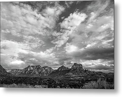 Metal Print featuring the photograph Sedona Red Rock Country Bnw Arizona Landscape 0986 by David Haskett