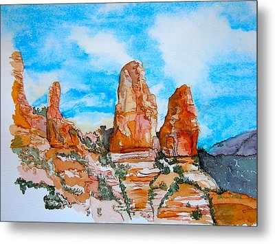 Sedona Red Rocks Metal Print by Sharon Mick