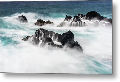 Metal Print featuring the photograph Seduced By Waves by Jon Glaser