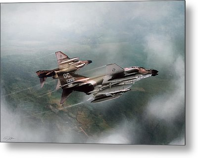 Metal Print featuring the digital art Seek And Attack by Peter Chilelli