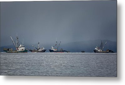 Seiners Off Mistaken Island Metal Print by Randy Hall