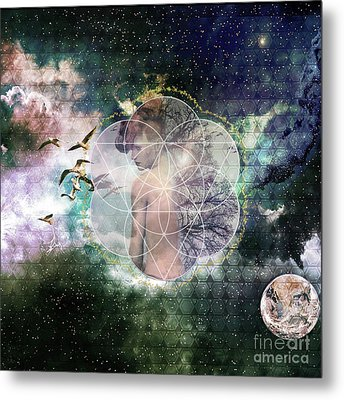 Self Discovery Metaphysical Enlightenment Metal Print by MetaProduct