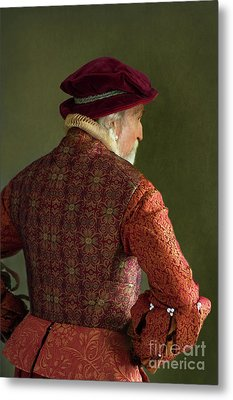 Metal Print featuring the photograph Senior Tudor Man by Lee Avison