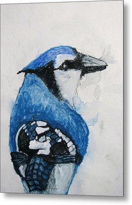 Sentimental Blue Metal Print by Patricia Arroyo