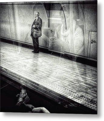 Señor #metro #underground #subway Metal Print by Rafa Rivas