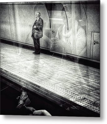 Señor #metro #underground #subway Metal Print