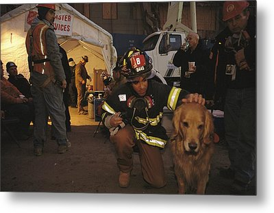 September 11th Rescue Workers Receive Metal Print by Ira Block