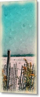 Metal Print featuring the painting September Beach by Susan Fisher