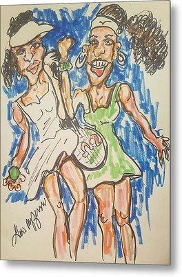 Serena And Venus Williams Metal Print