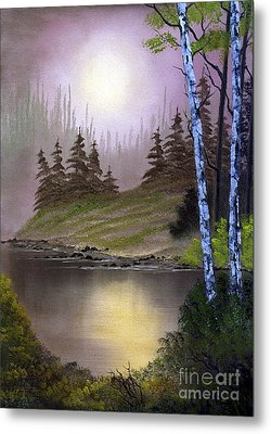 Serene Nightscape Metal Print