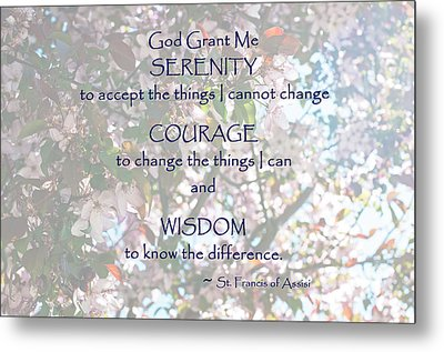 Serenity Prayer Metal Print