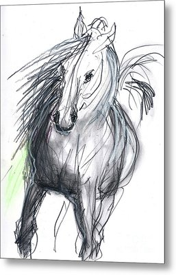 Metal Print featuring the mixed media Sergei by Carolyn Weltman