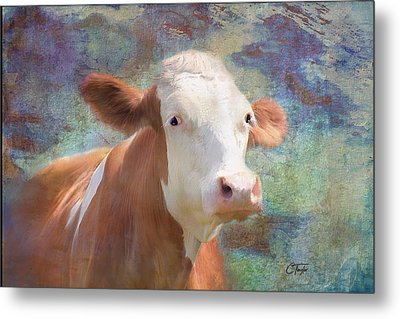 Metal Print featuring the mixed media Serious Business by Colleen Taylor