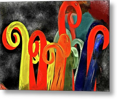 Metal Print featuring the mixed media Seuss' Canes by Trish Tritz