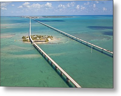 Seven Mile Bridge Crossing Pigeon Key Metal Print by Mike Theiss
