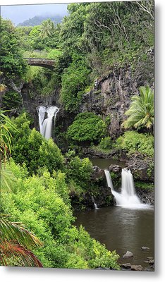 Seven Pools Hana Metal Print by Pierre Leclerc Photography