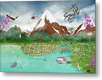 Seward, Alaksa 2017 Metal Print by Cindy Anderson